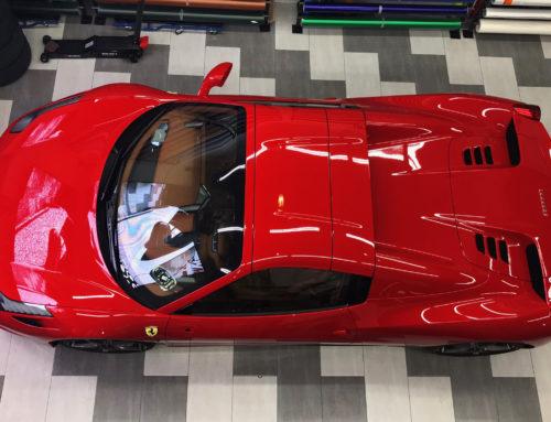 Ferrari Spider Protección Film Protector Transparente Bodyfence