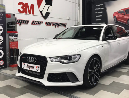 Audi A6 Look RS 6 Sound Booster Pro-kit y Detalles en Negro