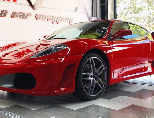 Ferrari F430 Pintado de Pinzas en Amarillo