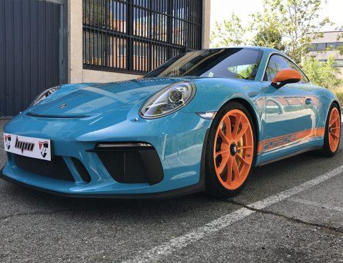 Porsche GT3 protección frontal con PPF