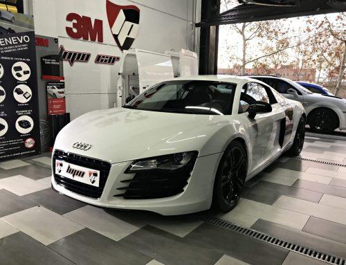 Audi R8 escape Quicksilver e hidroimpresión