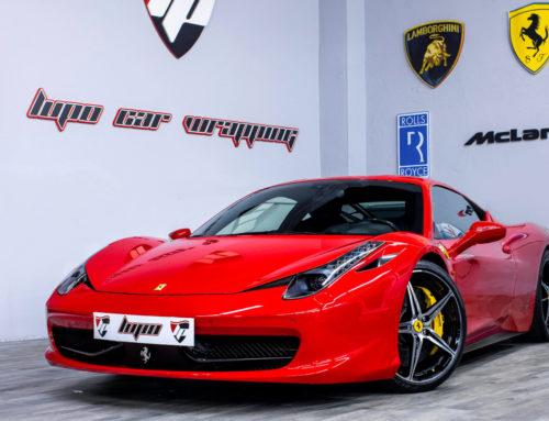 Ferrari 458 Italia Coating 9H e hidroimpresión