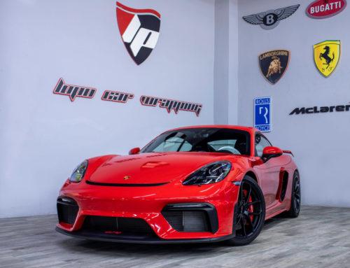 Porsche Cayman GT4 protección con PPF XPEL