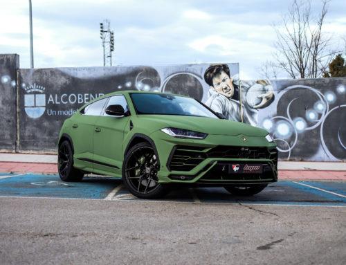 Lamborghini Urus Full Wrap y llantas Brixton Forged