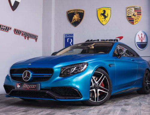 Mercedes S63 AMG Full Wrap azul satinado