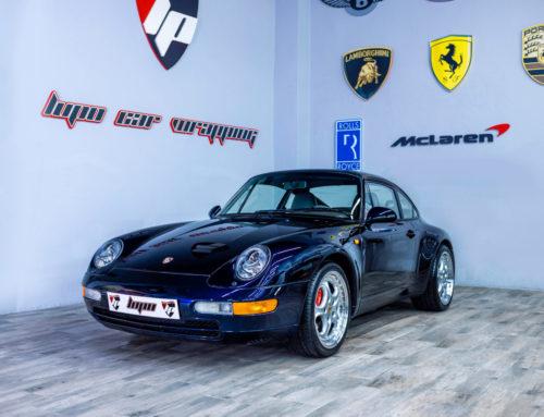 Porsche 993 pintado de pinzas e instalación de llantas