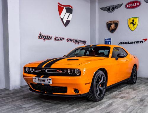 Dodge Challenger Full Wrap y franjas