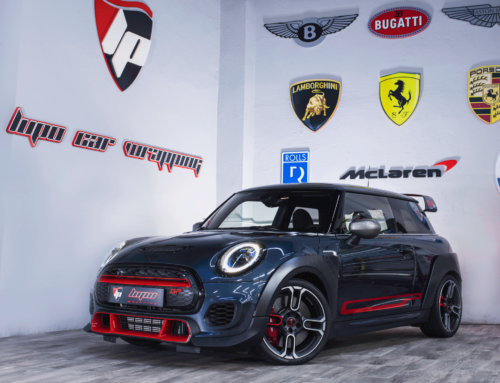 Mini GP3 detalles en vinilo 3M Wrap Film