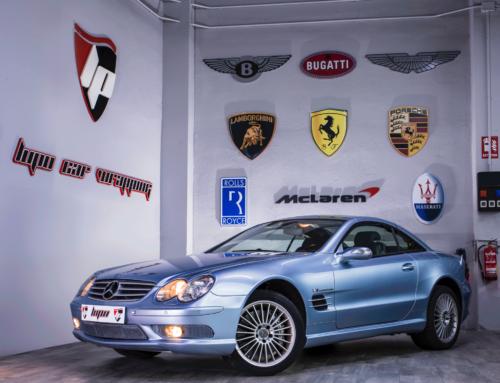Mercedes SL55 AMG interiores en carbono