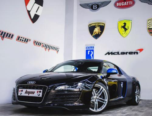 Audi R8 V8 detalles en carbono
