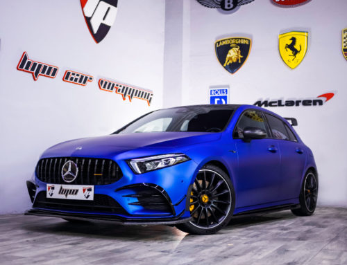 Mercedes A35 AMG Full Wrap azul satinado